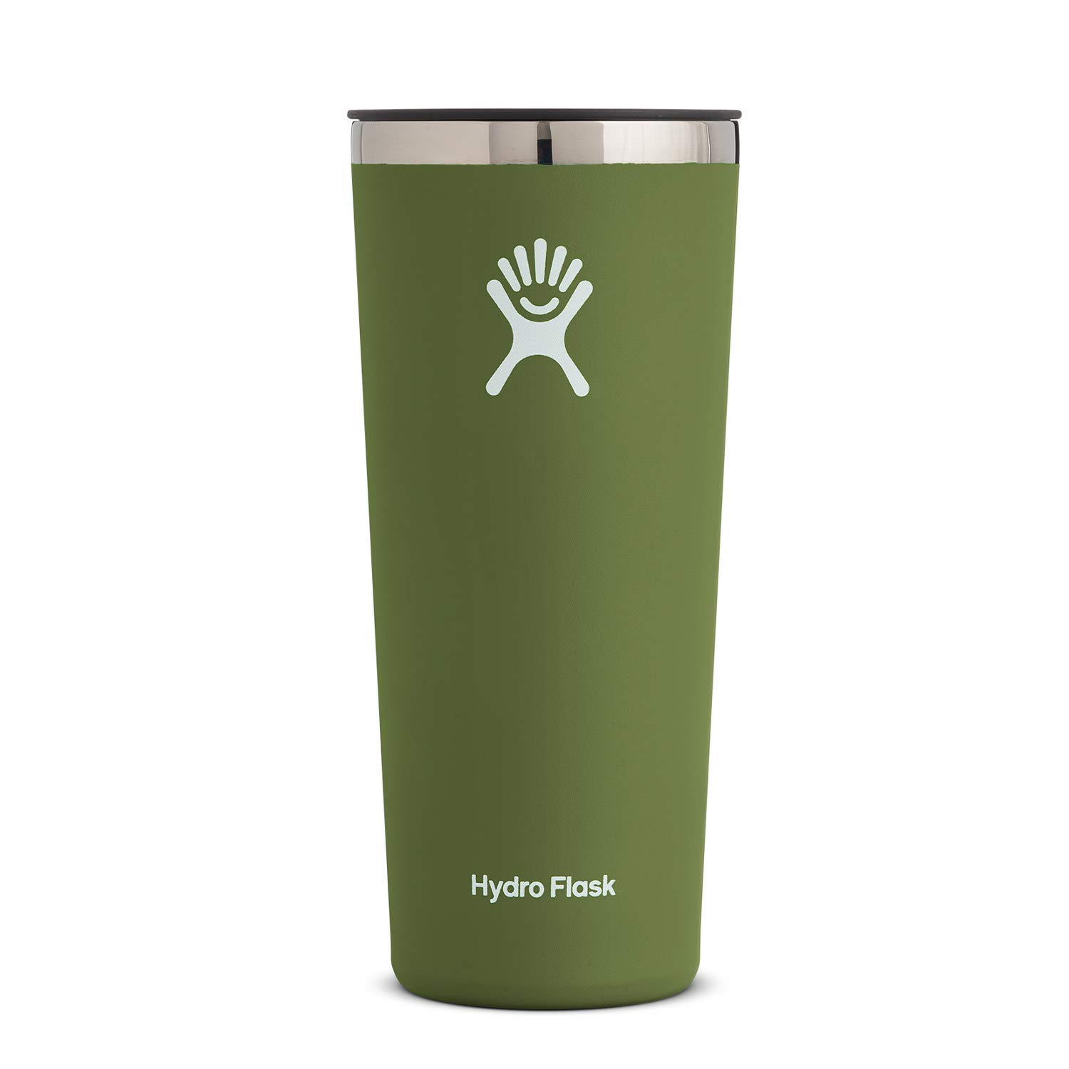Hydro Flask Tumbler Cup - Stainless Steel & Vacuum Insulated - Press-in Lid - 22 oz, Olive