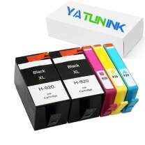 YATUNINK Remanufactured Ink Cartridge Replacement for HP 920XL Ink Cartridge Combo Pack for HP Officejet 6000 Wireless 6500A Plus 6500 Wireless Printers(5 Pack)