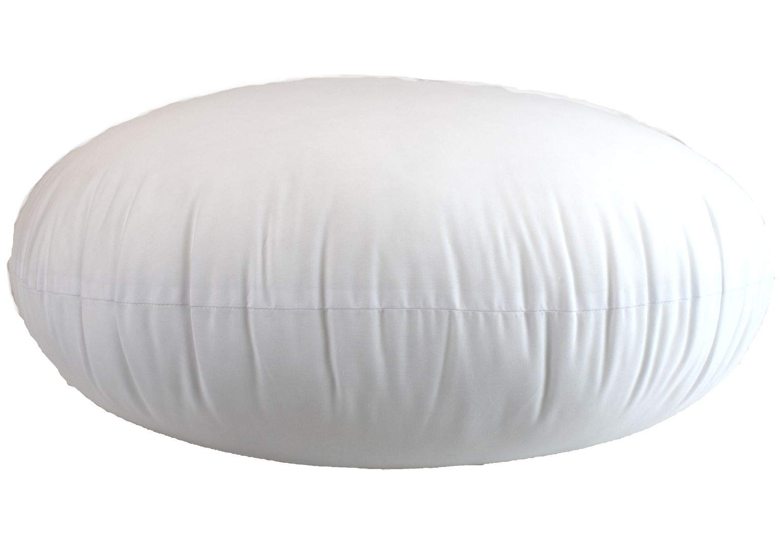 MoonRest Round Pillow Insert Hypoallergenic Polyester Form Stuffer-%100 Cotton Blend Covering for Sofa Sham, Decorative Pillow, Cushion and Bed - 12 X 12 Inch