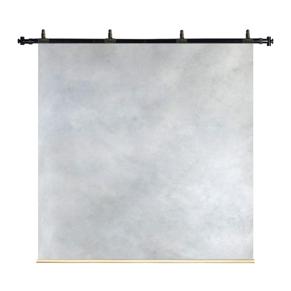 Kate 8x8ft/2.5x2.5m Oil Painting Hand Painted Canvas Backdrops Gray White Marble Texture Spray Background Portrait Photography Studio Props