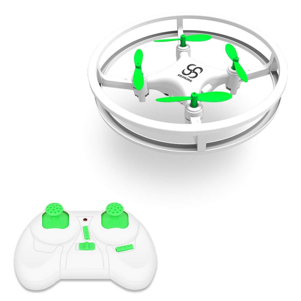 SKYKING F007 Mini Drone for Kids Gift,Beginner RC Portable Nano Quadcopter Boys Girls Toys with Hovering/3D Flips/One Key Return/Headless Mode/3 Speed/LED Light New Year Gift(White)