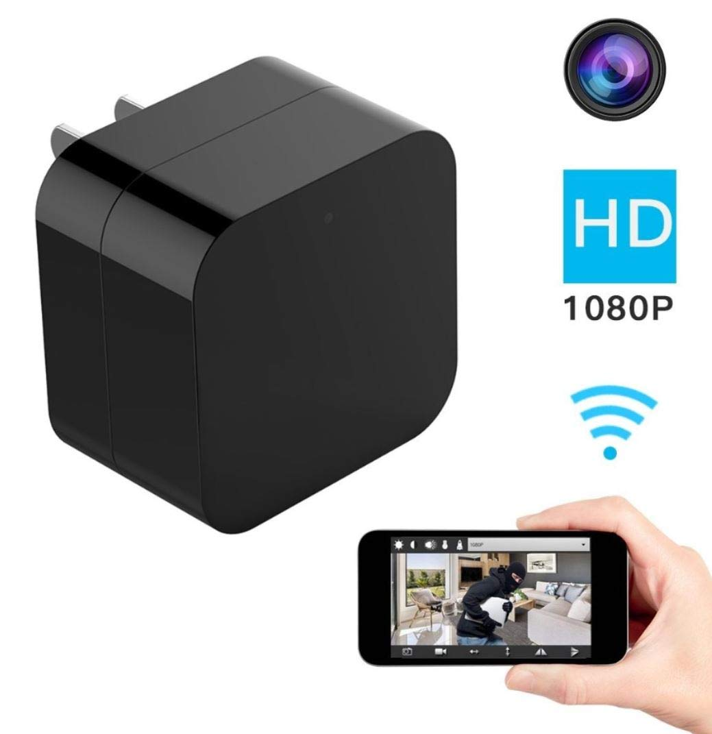 DENT 1080P USB Charger Camera WiFi - HD Camcorder with Remote View, Motion Detection, Pet Nanny Security Cam