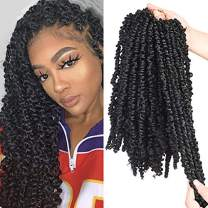 Silike 3 Packs 72 Roots 14inch Pre-twisted Passion Twist Crochet Braiding Hair-Pre-looped Passion Twist Hair for Black Women (1b)