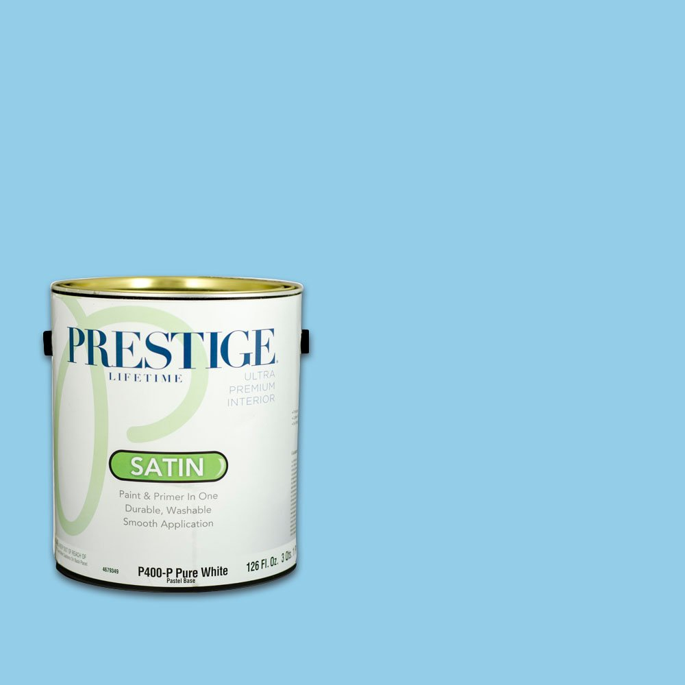 Prestige, Blues and Purples 6 of 8, Interior Paint and Primer In One, 1-Gallon, Satin, Blue Sky