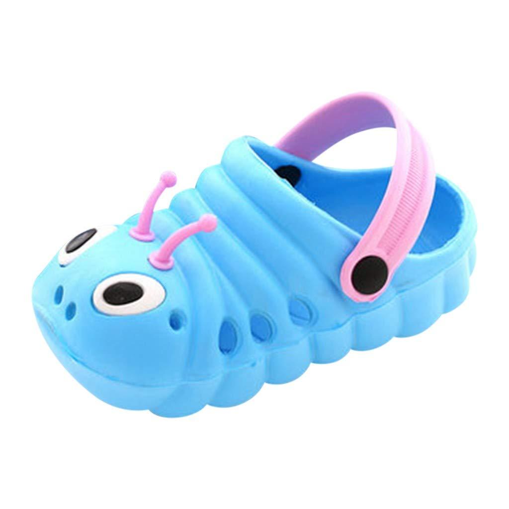 Auimank Baby Sandals Kid's Cute Shoes Summer Premium Cartoon Sandals Children Caterpillar Non-Slip Beach Slipper