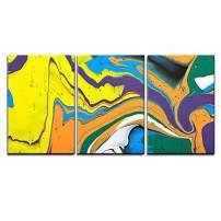 "wall26 - Abstract Acrylic Painting - Canvas Art Wall Decor - 16""x24""x3 Panels"