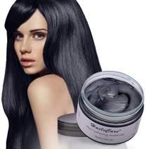 Temporary Hair Color Wax, HailiCare Disposable Hair Dye, Hairstyle Coloring Cream for Party, Cosplay, Halloween, Masquerade, Nightclub, Hair Color Wax Mud Hair Dye Cream for Women Men, 4.23oz Black
