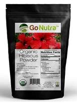 Hibiscus Powder Organic Certified 8oz Hibiscus Sabdariffa Non-Gmo