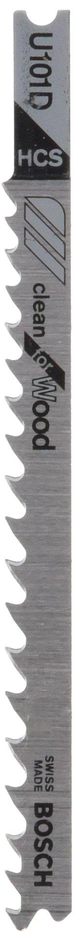 Bosch U101D 5-Piece 4 In. 6 TPI Clean for Wood U-shank Jig Saw Blades