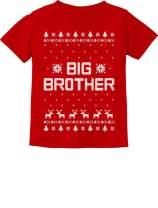 Tstars - Big Brother Ugly Christmas Sweater Boys Sibling Toddler Kids T-Shirt