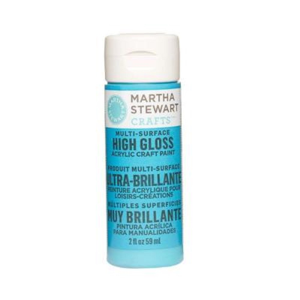 Martha Stewart Crafts Multi-Surface High Gloss Acrylic Craft Paint in Assorted Colors (2-Ounce), 32087 Pond