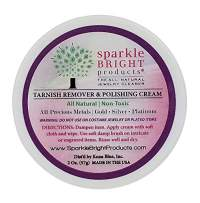 Sparkle Bright Products All-Natural Jewelry Cleaner | Tarnish Remover & Polishing Cream, 2oz. (57g) | Gold, Silver, Platinum Precious Metal Polish for Jewelry Cleaning