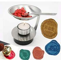 MDLG Adjustable Fire Height Wax Warmer Melts Wax Sticks Beads Melting Furnace Tool Stove Pot for Wax Seal Stamp Wedding Invitations Arts Crafts Melting Spoon Lightening Candle Kit
