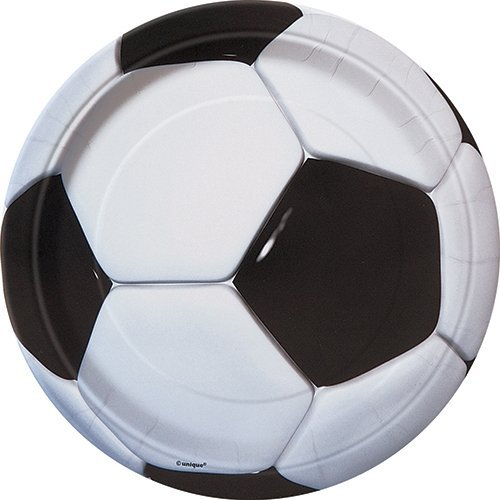 Soccer Party Paper Cake Plates, 8ct