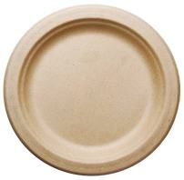 "[500 COUNT] 7"" in Round Disposable Plates - Made From Natural Plant Fibers Contemporary Eco Friendly Paper Plastic Alternative 100% by-product"