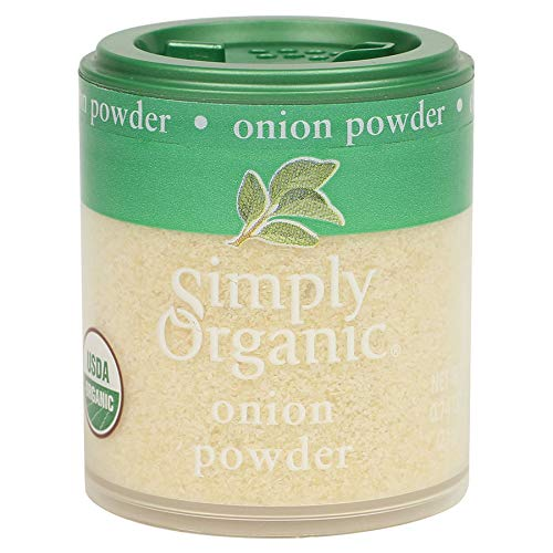 Simply Organic White Onion Powder, Certified Organic   0.74 oz   Pack of 6   Allium cepa