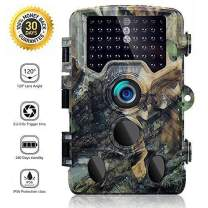 "SOVACAM Trail Camera,16MP 1080P 2.4"" LCD HD Deer Hunting Camera with 46pcs 850nm Low-Glow IR LEDs and 120° PIR Sensors,Up to 0.2s Trigger time,IP 56 Waterproof"