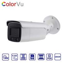 4MP ColorVu Security IP Camera Poe,OEM DS-2CD2T47G1-L,Compatible with Hikvision,Full Time Color Night Vision Network IP Camera Outdoor with H.265+,WDR,SD Slot,Onvif,IP67(Bullet 2.8mm)