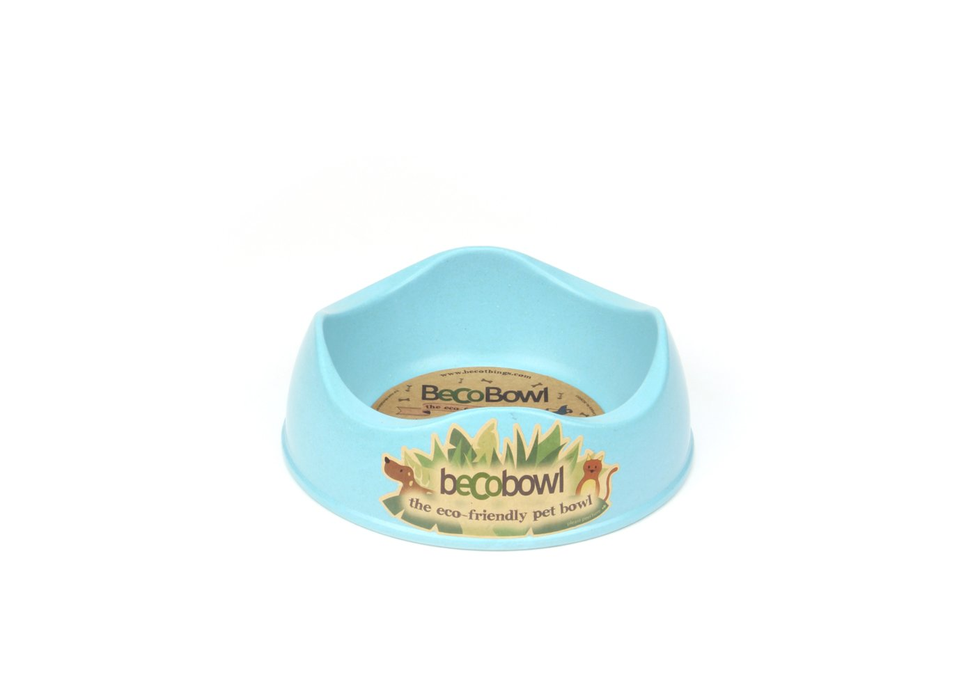 BECO PETS The Eco-Friendly Pet Bowl - Small Blue