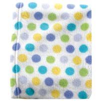 Luvable Friends Unisex Baby Coral Fleece Blanket, Blue, One Size