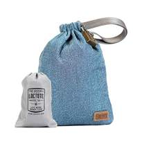 LOCTOTE AntiTheft Sack 3L - The Packable Portable Safe | Anti-theft | Lockable | Slash-Resistant (Denim Blue)