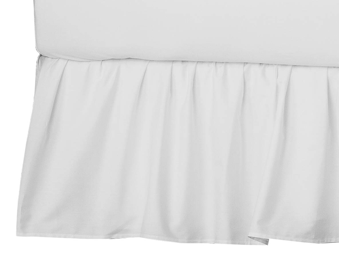 American Baby Company 100% Natural Cotton Percale Portable Mini Crib Skirt, White, Soft Breathable, for Boys and Girls