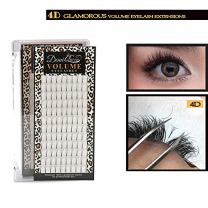 Demi Queen 4D Premade Fans Russian Individual Volumes Rapid Cluster Lash Extensions Thickness 0.07mm C Curl (14mm)