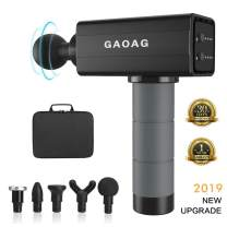 GAOAG Massage Gun Deep Tissue Percussion Muscle Massager for Pain Relief, Handheld Electric Body Massager Sports Drill Portable Super Quiet Brushless Motor