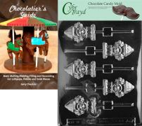 Cybrtrayd Fire Hydrant Lolly Chocolate Candy Mold with Chocolatier's Guide Instructions Book Manual