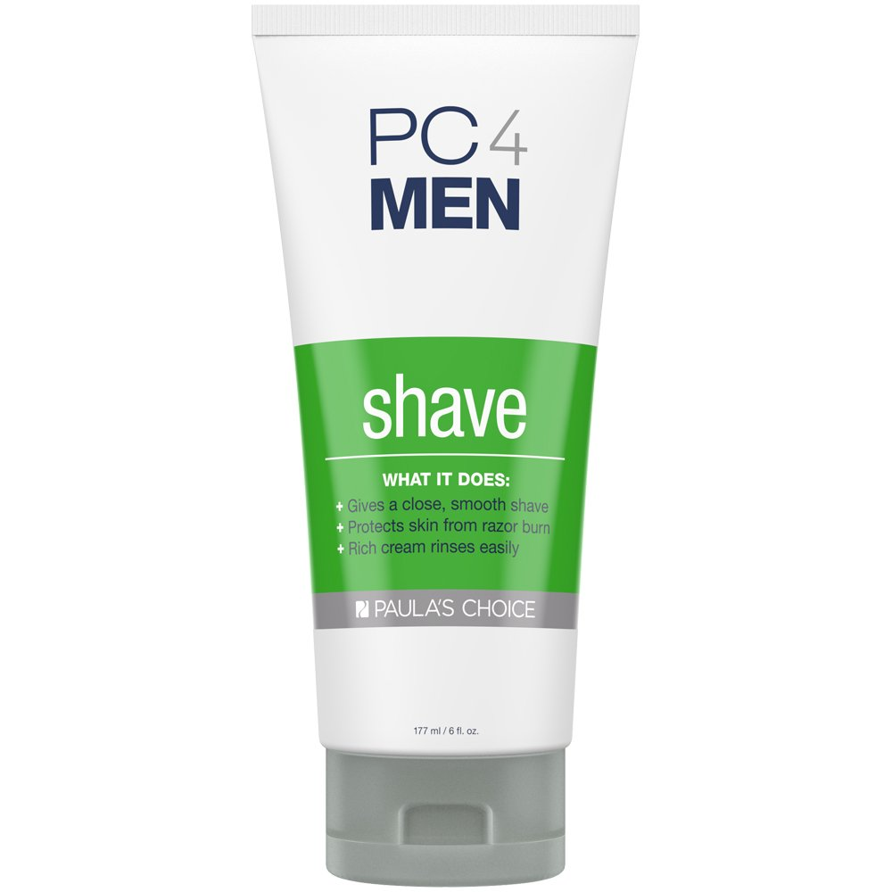Paula's Choice PC4MEN Unscented Shaving Cream with Coconut Oil, Licorice Extract & Aloe, Fragrance Free for Sensitive Skin, 6 Ounce