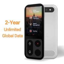 JoneR Voice Language Translator Device, 2-Year Unlimited Global Data, Support Photo Translation, 3.1-inch Touch Screen, 55 Languages +75 Accents Instant Two-Way Portable Translator, Fly, White