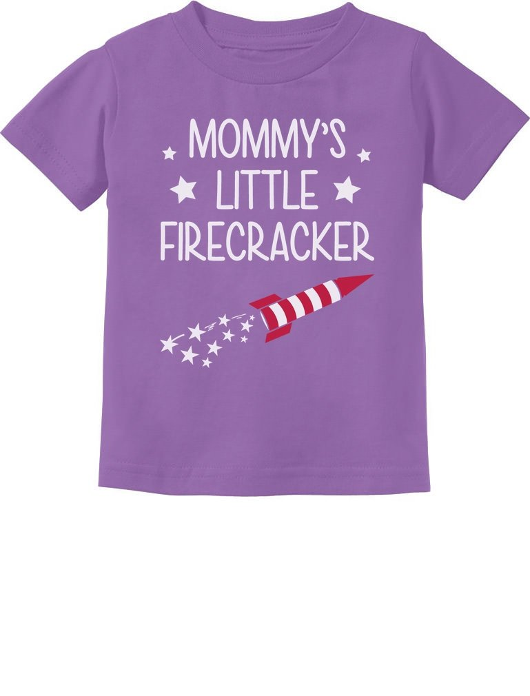 Mommy's Little Firecracker Cute 4th of July Toddler Infant Kids T-Shirt