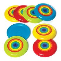 Baker Ross Rainbow Flying Discs — Novelty Toys for Kids, Perfect Party, Loot or Prize Bag Filler (Pack of 8)