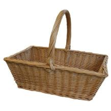 JVL Steamed Willow Loop-Handled Fruit Shopping Basket