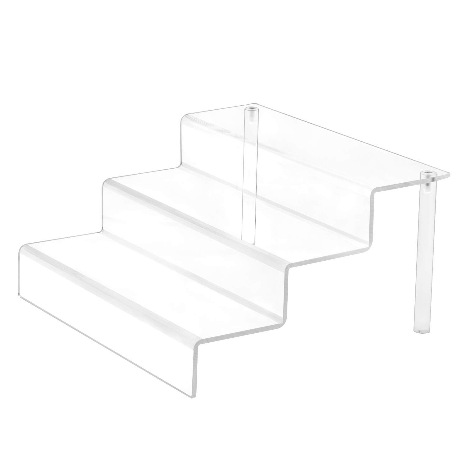 Combination of Life 3 Tier Indoor Acrylic Potted Plant Stand Flower Planter Garden Display Holder Shelf Rack Clear