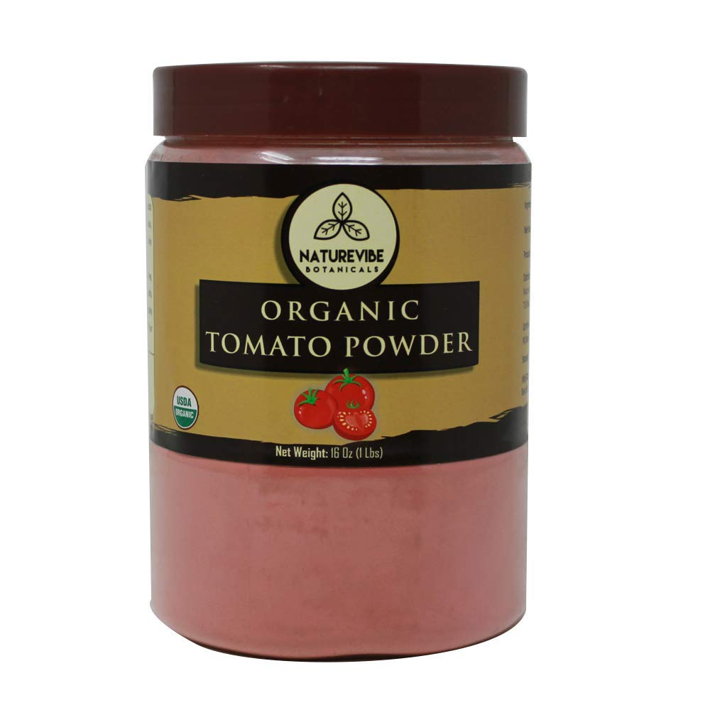 Naturevibe Botanicals Organic Tomato Powder 1lb (16 ounces)   Non GMO   Adds flavor and taste.. [Packaging may vary]
