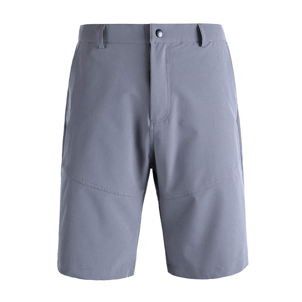Pioneer Camp Men's Hiking Shorts Stretch Quick Dry Lightweight Water-Repellent Shorts for Fishing, Camping, Travel (Gray, 37)