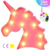 AIZESI Unicorn Marquee Light Sign Night Light Wall Decoration Room Decor,Unicorn Marquee Sign Desk Table Lamp,Kids Gift for Birthday Xmas Colorful Pink Unicorn Night Light Led (Pink) Christmas Gifts