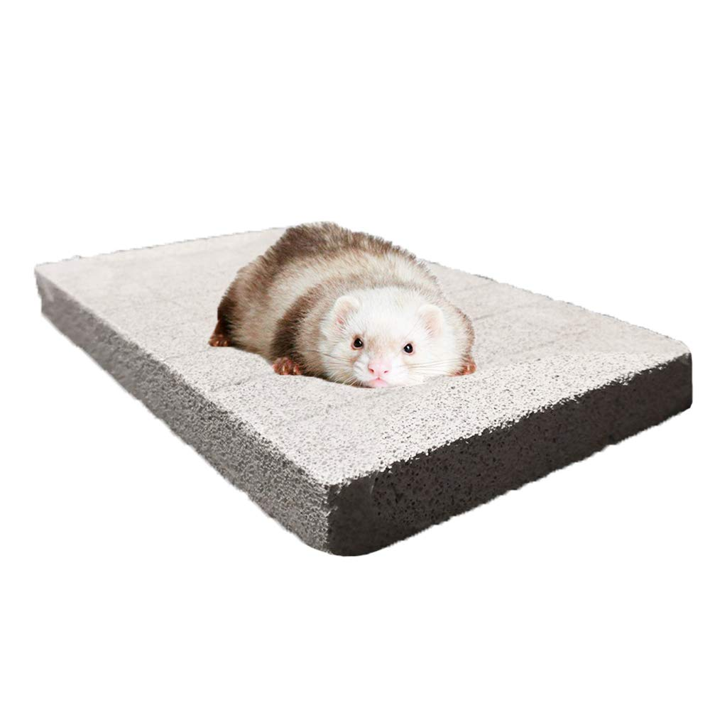 Tfwadmx Hamster Chew Toy, Large-Chinchilla Pumice Stone, Rabbit Lava Bites Foot Pad Grinding Teeth and Claws for Bunny Rat Hedgehog Guinea Pig Gerbil