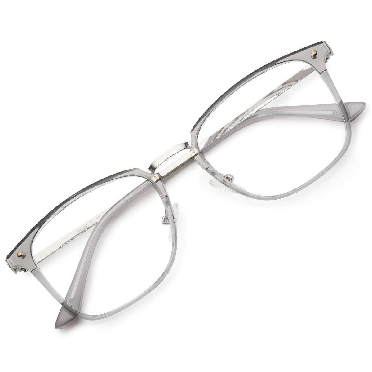 OQ Club Glasses TR90 Square Modern Blocking Blue Light for Computer Anti Fatigue Visual Without Prescription for Women Men