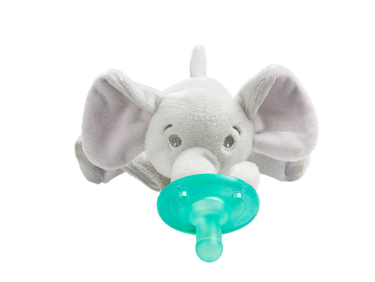 Philips Avent Soothie Snuggle Pacifier Holder with Detachable Pacifier, Elephant, 0m+