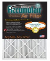 Accumulair Titanium High Efficiency Allergen Reduction Air Filter/Furnace Filters (2 Pack)
