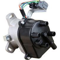 AIP Electronics Complete Premium Electronic Ignition Distributor Compatible Replacement For 1996 1997 Honda Accord DX EX LX Prelude 2.2L With External Coil Tec Distributor TD-76U OBD1 Oem Fit DTD76