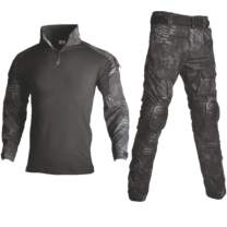 NEW VIEW Military Rapid Assault Sleeve Slim Fit Long Sleeve Kneepad and Elbow Pads Combat T-Shirt and Pant
