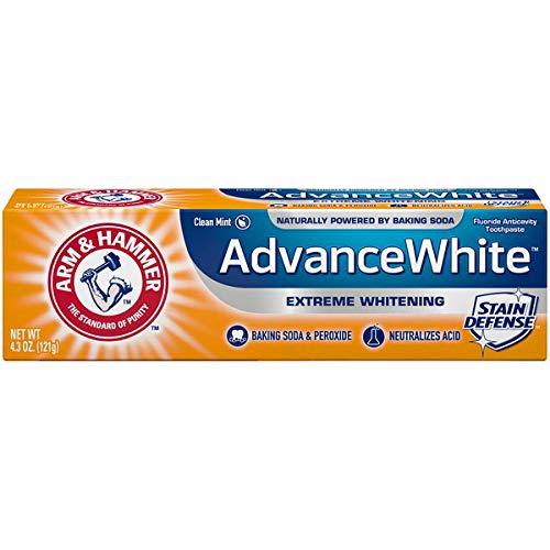 ARM & HAMMER Advance White Baking Soda & Peroxide Toothpaste, Extreme Whitening 4.3 oz ( Pack of 6)