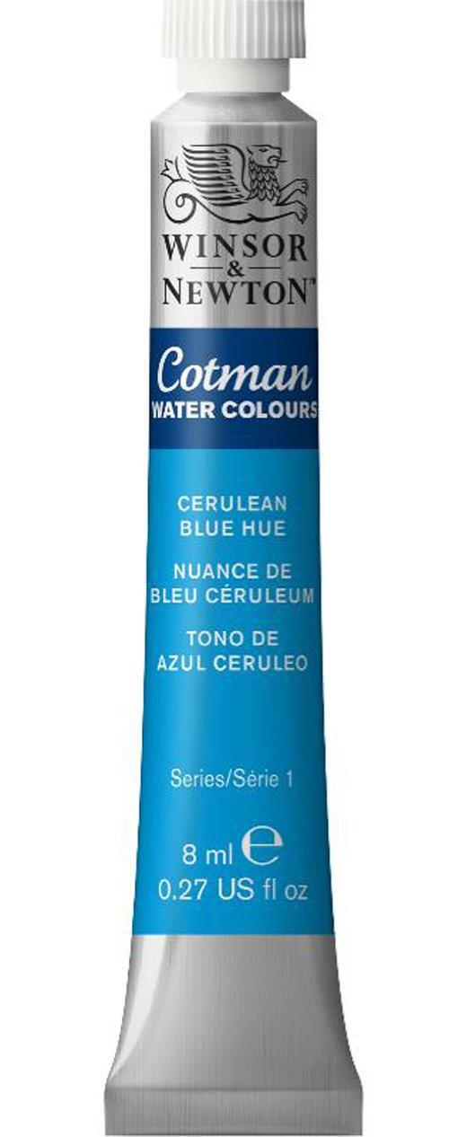Winsor & Newton Cotman Water Colour Paint, 8ml tube, Cerulean Blue Hue