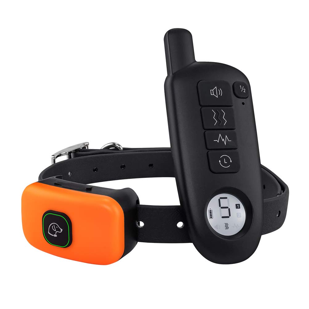 Dog Shock Collar with Remote - Rechargeable Dog Training Collar 3 Modes Beep Vibration and Shock 100% Waterproof Up to 1300 Ft Remote Range 5 Shock Levels for Large Small Dogs