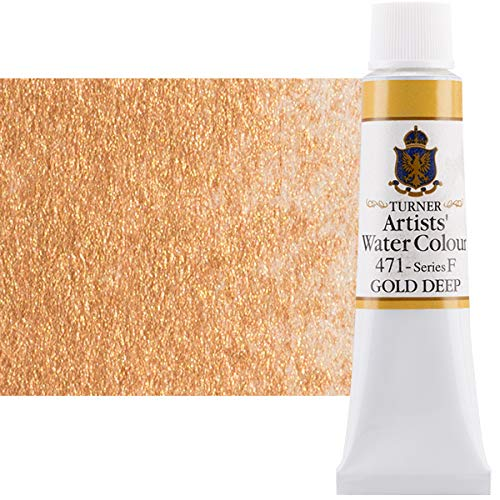 Turner Concentrated Professional Artists' Watercolor Paint 15ml Tube - Gold Deep