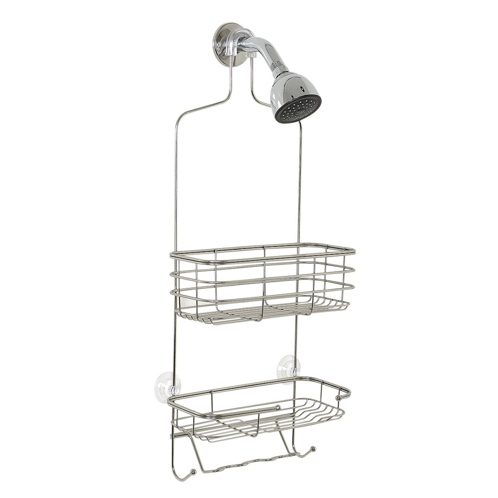 Zenna Home Over the Shower Caddy, Chrome
