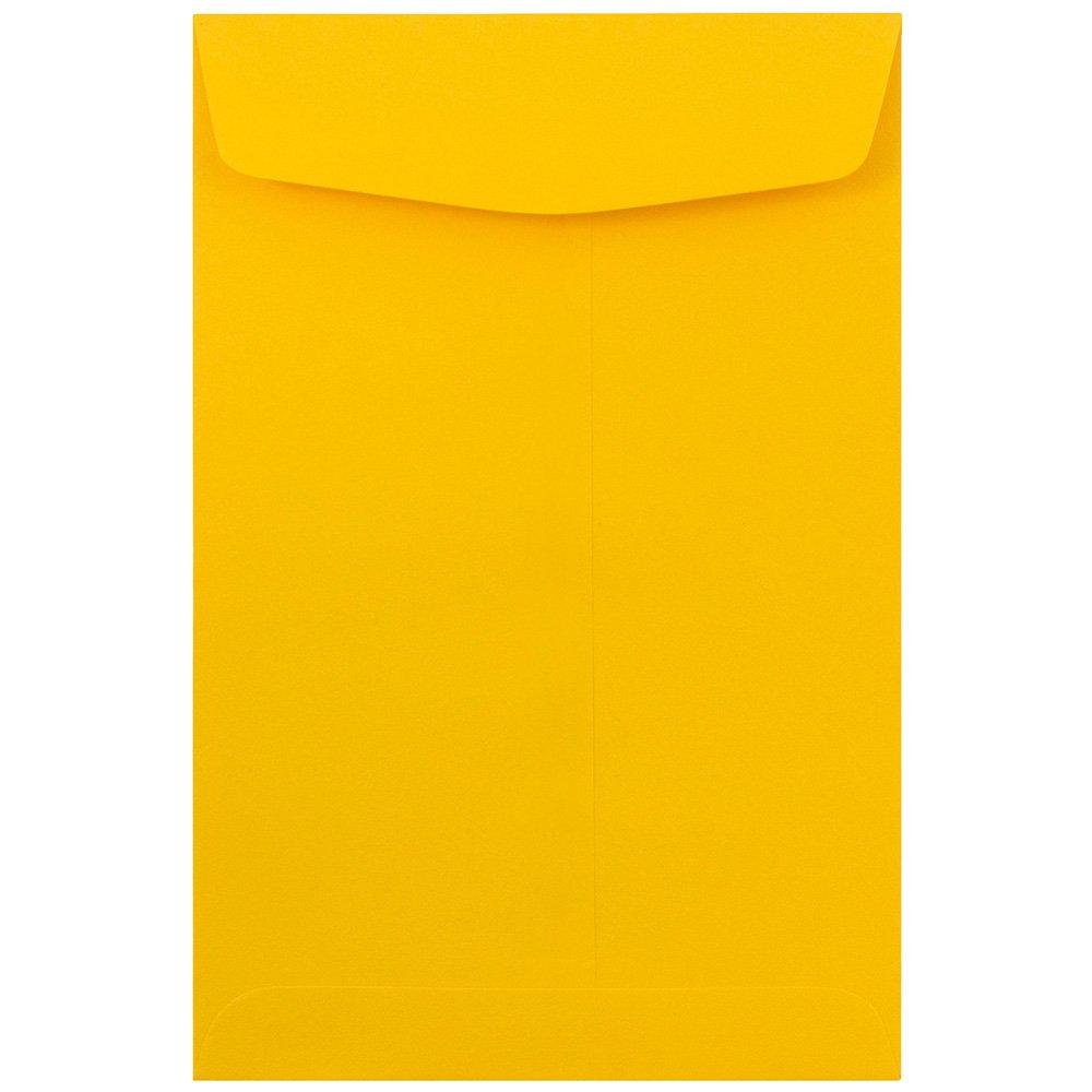 JAM PAPER 6 x 9 Open End Catalog Premium Envelopes - Sunflower Yellow - 100/Pack